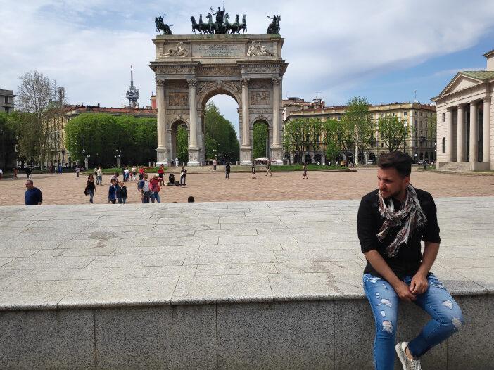 Charles em Milão