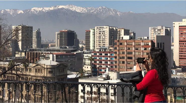 Cerro Santa Lucía, no Chile.