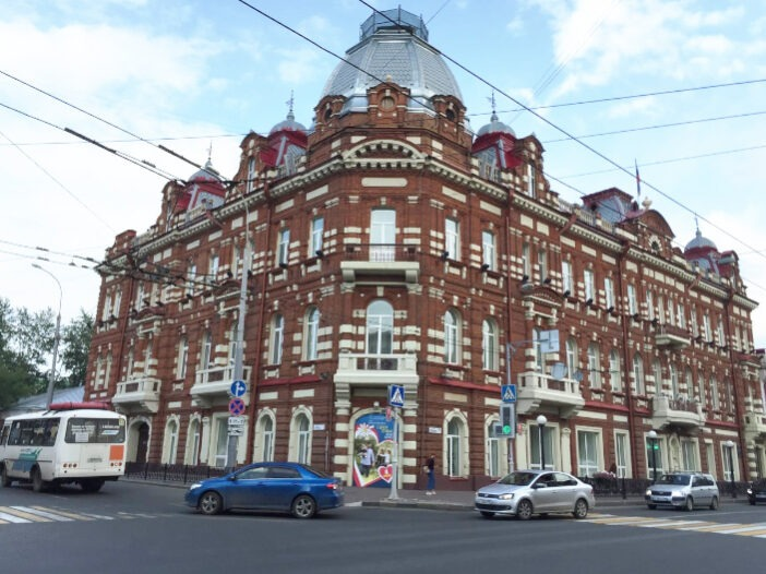 Casa do famoso comerciante Kukhterin, onde a prefeitura municipal está atualmente localizada.