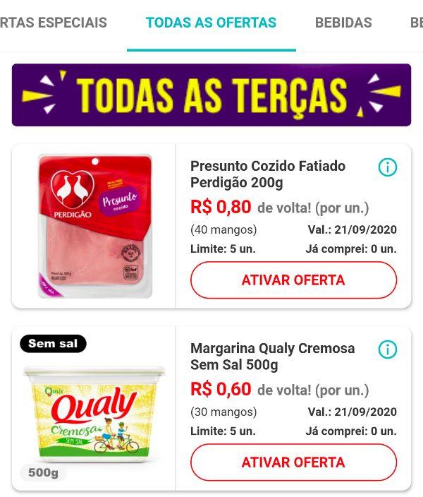 Novas ofertas de cashback no aplicativo Mangos