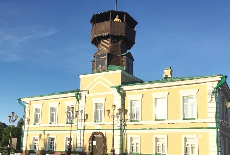 Montanha Voskresenskaya, plataforma de observação de Tomsk.