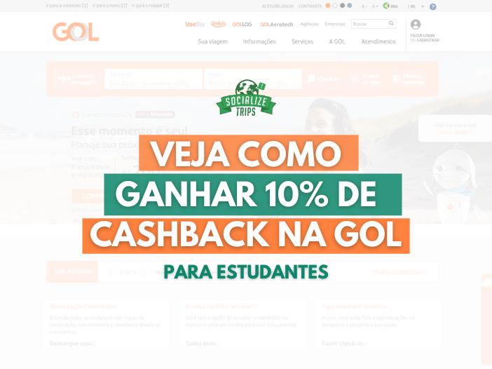 Cashback na GOL para estudantes
