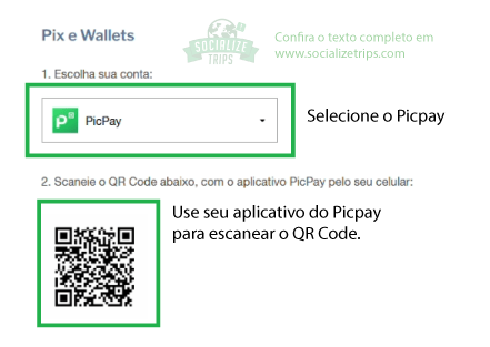 Tela de pagamento via QR Code no site da GOL
